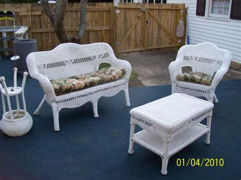 white wicker furniture beautiful used 250 rock hill sc