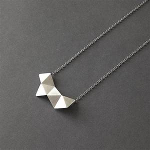 Geometric Chain Necklace, Sterling Silver from RawObjekt ...