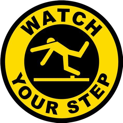 Watch Your Step Floor Sign P4325   by SafetySign.com