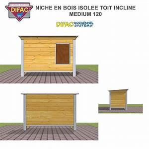 Toit En Bois : niche d 39 ext rieur pour chien en bois isol e toit inclin ~ Melissatoandfro.com Idées de Décoration