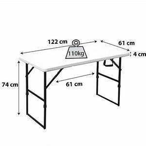 Table De Camping Pas Cher : table pliante portable camping 122 cm achat vente table ~ Melissatoandfro.com Idées de Décoration