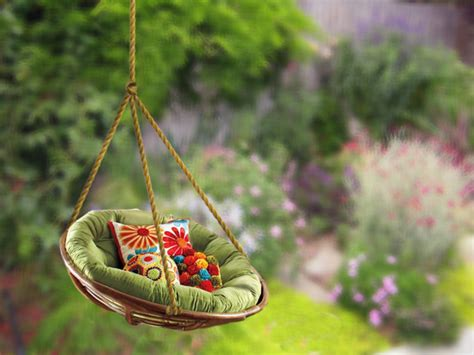 Hanging Papasan Chair Diy by Outdoor Swing Ideas Diy