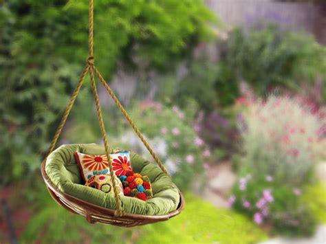 hanging papasan chair diy outdoor swing ideas diy