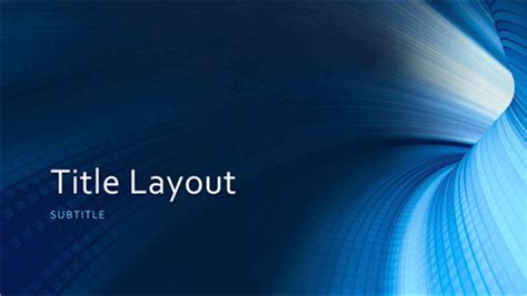 Business Digital Blue Tunnel Presentation Widescreen