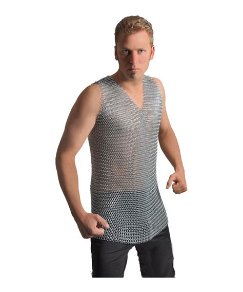 Mens Chainmail Steel Shirt  Men Costume
