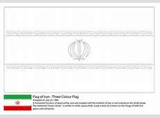 Ausmalbild Flagge des Iran Ausmalbilder kostenlos zum