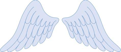 pastel blue angel wings  clip art