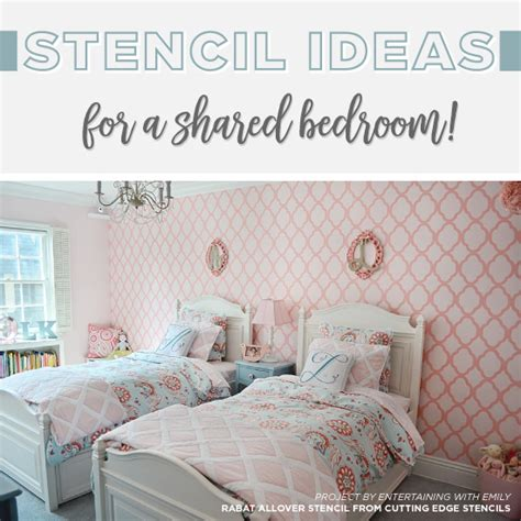 stencil ideas   shared bedroom stencil stories