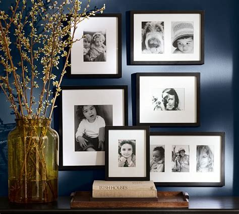picture frame gallery set wood gallery frame in a box set black pottery barn 4184
