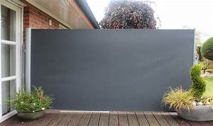 brise vue retractable sur mesure occultation balcon exoteck With toile pour terrasse exterieur 7 brise vue retractable sur mesure