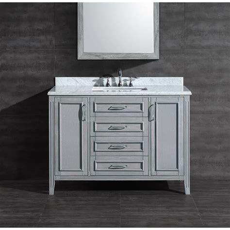 ove decors daniel grey undermount single sink bathroom