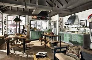 Cuisine Style Industriel Vintage : 32 cuisines au style industriel dont vous allez tomber ~ Teatrodelosmanantiales.com Idées de Décoration