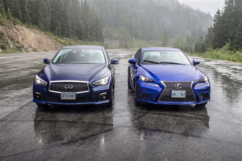 comparison test  lexus    sport awd  infiniti  red sport  awd page