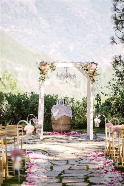 rustic wine barrels wedding decor ideas deer