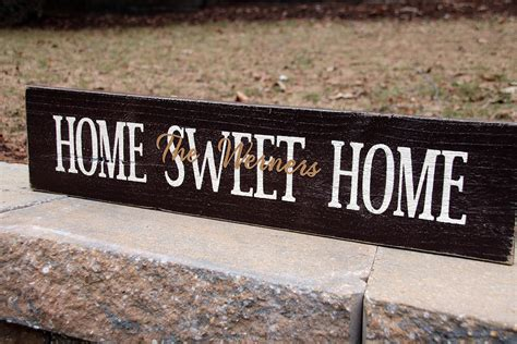 Sweet Home : Personalized Home Sweet Home Sign