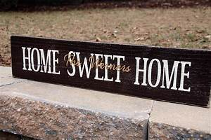Home Sweat Home : personalized home sweet home sign signs by andrea ~ Markanthonyermac.com Haus und Dekorationen