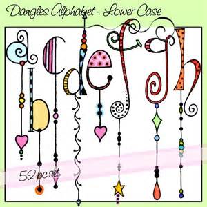 Alphabet Zentangle Dangle