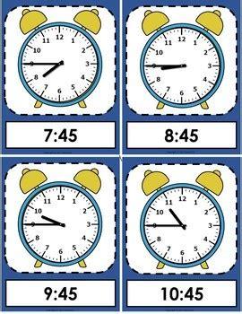 telling time flash cards  sweeties teachers pay teachers