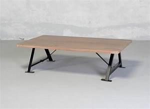 Pied De Table Metal Industriel : table basse bois brut et metal n15 ~ Dailycaller-alerts.com Idées de Décoration