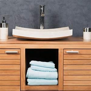 Grande Vasque À Poser : vasque poser en marbre g nes rectangle cr me l 50 cm ~ Melissatoandfro.com Idées de Décoration