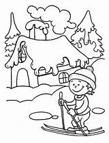 Coloring Winter Ski Learning Pages Season Kid Young Play Colouring Fun Sky Books Lessons sketch template
