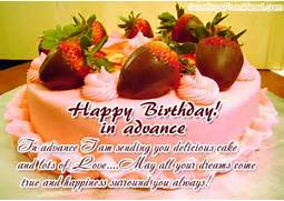 Happy birthday in adva...