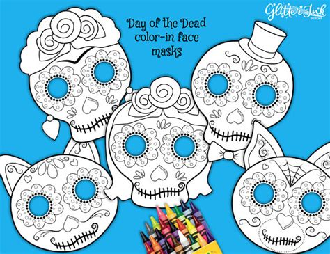 de muertos day   dead color  sugar skull face mask