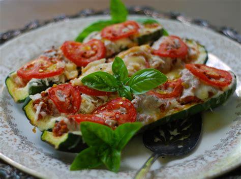 Zucchini Boats Pizza by Pizza Style Zucchini Boats Chindeep