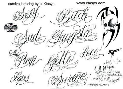 eye catching cursive letters  tattoos tattoo lettering