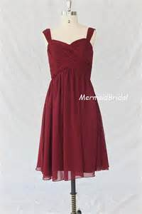 cheap burgundy bridesmaid dresses cheap burgundy bridesmaid dress chiffon knee length 100 usd 86 99 via etsy wedding