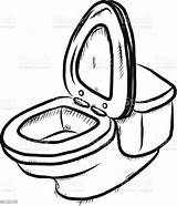Toilet Cartoon Flush Sketch Vector Sketches Illustration Drawn Draw Flushing Hand Bathroom Isolated Thinkstockphotos Drawing Toilets Drawings Background Cartoons Craft sketch template