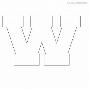 free coloring pages of w block letter With block letter stencils