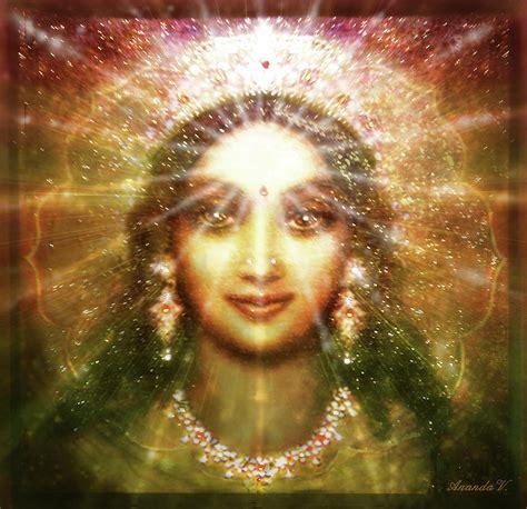 Goddess Of Light by Vision Of The Goddess Light Mixed Media By Ananda Vdovic