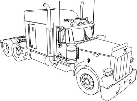 peterbilt  long trailer truck coloring page truck coloring pages peterbilt peterbilt trucks