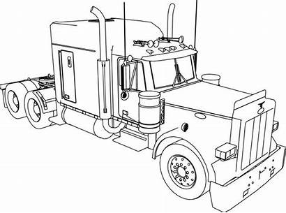 Coloring Truck Pages Peterbilt Trailer 379 Semi