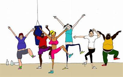 Clipart Fitness Class Exercise Cliparts Clip Library