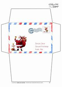 envelope for letter to santa claus craft border santa With santa letter and envelope