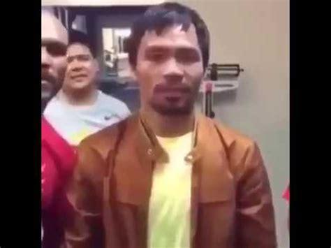 Fuertes Declaraciones De Manny Pacquiao Luego De La Pelea