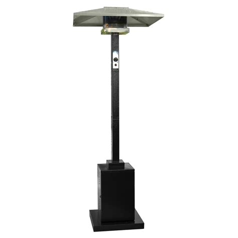 shop az patio 38000 btu black steel floorstanding liquid
