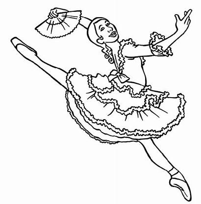 Ballerina Coloring Pages Professional Panama Printable Ballet