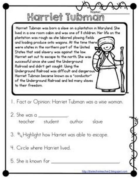 harriet tubman reading passage harriet tubman and reading
