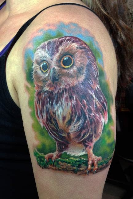 baby owl tattoos collection