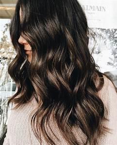 Balayage Cheveux Bouclés : brunette balayage f a s h i o n cheveux coiffure et ~ Dallasstarsshop.com Idées de Décoration