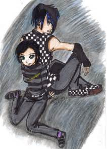Anime Emo Boy and Girl Couple Drawings