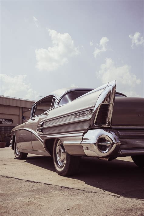 Classic Car Wallpaper Setting by Gray Car 183 Free Stock Photo