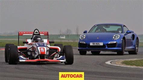 formula 4 car can porsche s 911 turbo s outrun a formula 4 car youtube