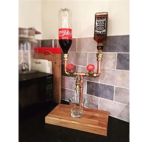 copper pipe jack daniels  coke stand   order  br copper fixtures copper lights