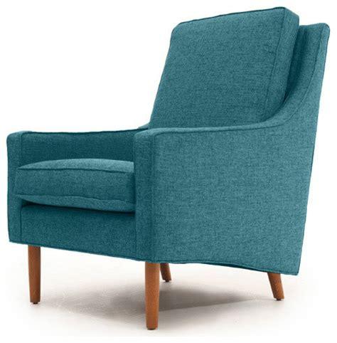 garfield mid century modern chair lucky turquoise blue