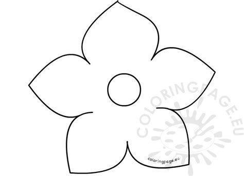 printable  petal flower template coloring page