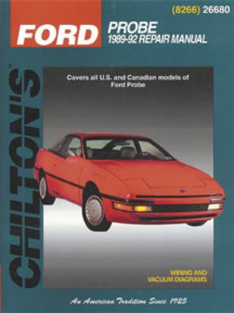 car service manuals pdf 1992 ford probe electronic valve timing chilton ford probe 1989 1992 repair manual